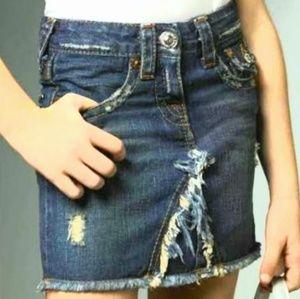 True Religion Jean Mini Skirt Lola Size 25